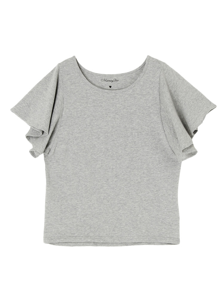 【WEB限定】 Multiジャー×フレアスリーブTシャツ(ライトグレー-F)