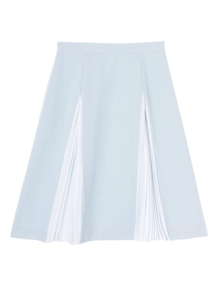 【DUO】ジプシーサップ プリーツ切替スカート(アイスブルー-F)