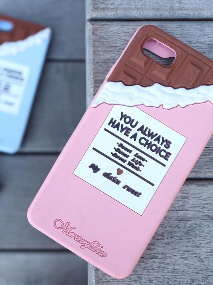 <<6/6S/7対応>>ChocolateシリコンiPhoneケース