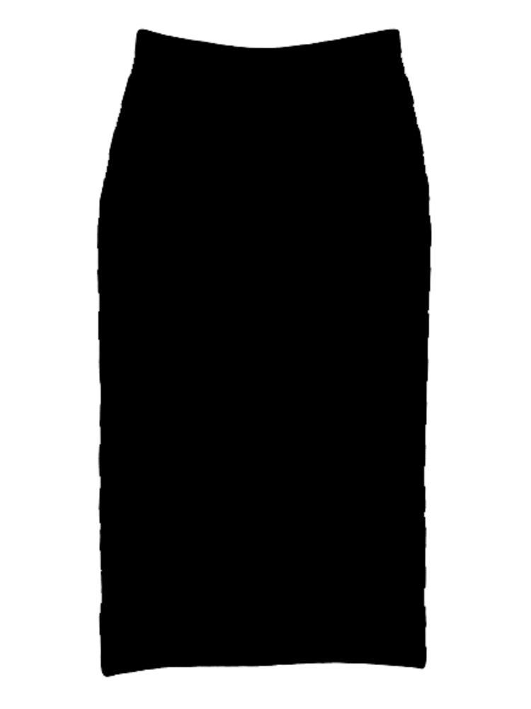 【BASIC】ミディアムニットSK(ブラック-1)