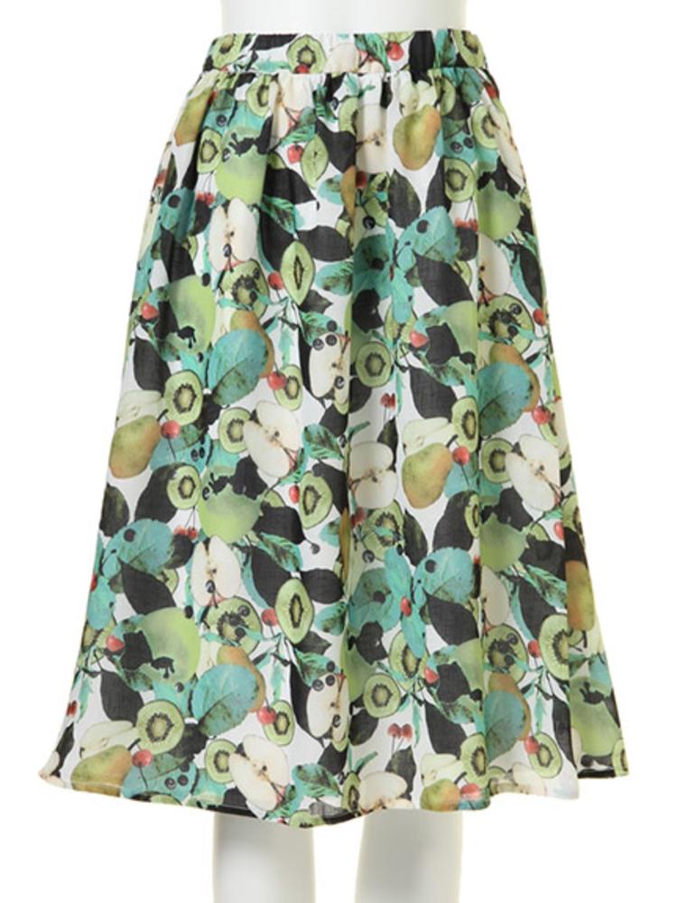 MIXフルーツフレアミディスカート
