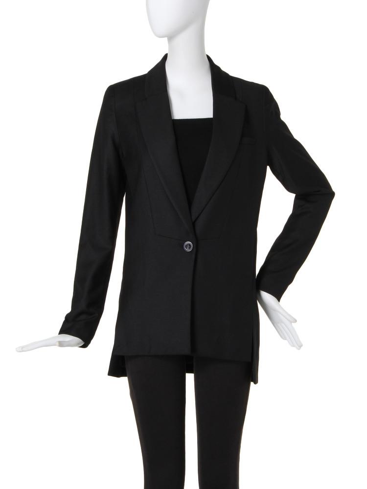 【BASIC】Basicサイドスリットジャケット(ブラック-1)