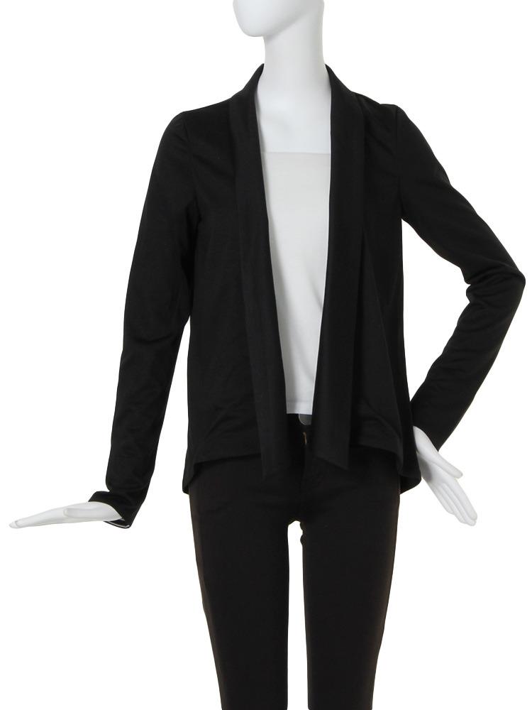 【BASIC】カットロングジャケット(ブラック-1)