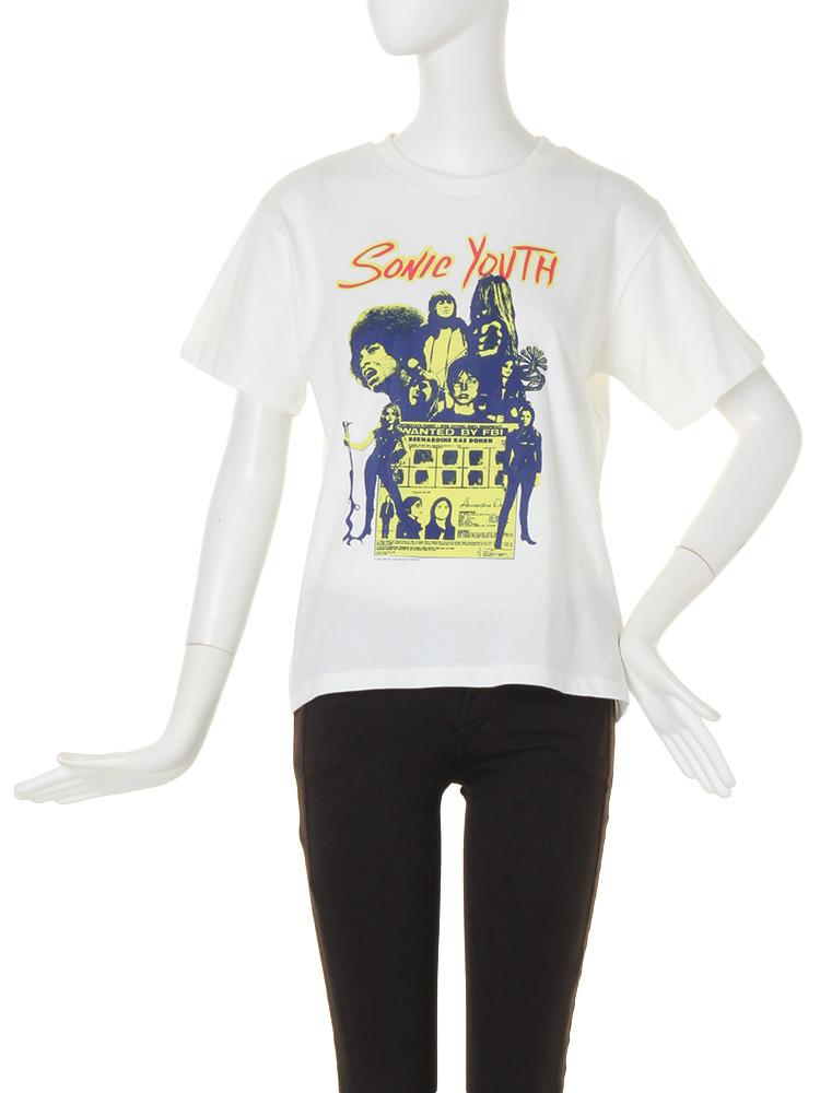 【CASUAL】SONIC YOUTHコラボTシャツ(ホワイト-F)
