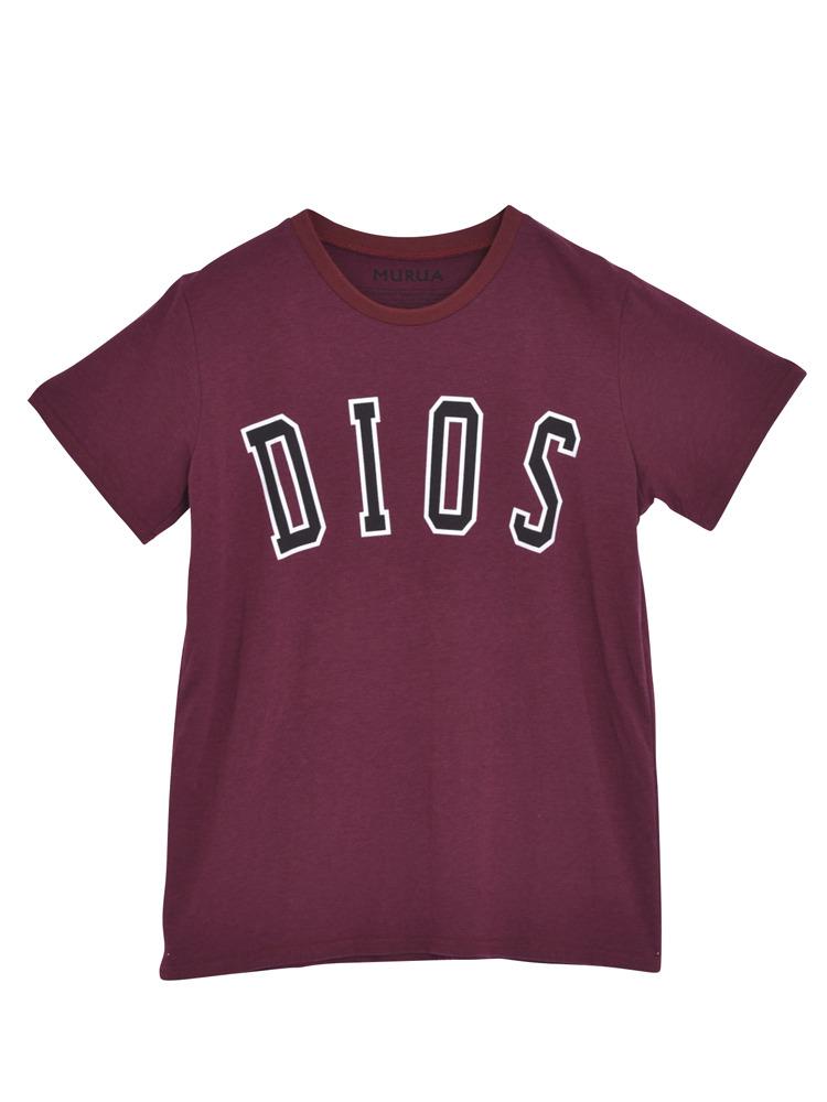 【CASUAL】DIOS Tシャツ(ボルドー-F)