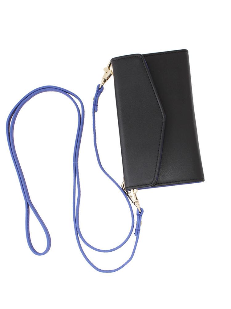 【CASUAL】フェイクレザーiphone6 case(ブラック-F)
