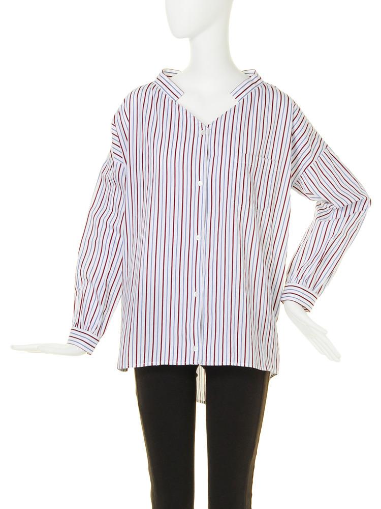 【FEMININE】ロングrelaxシャツ(ミックス-F)
