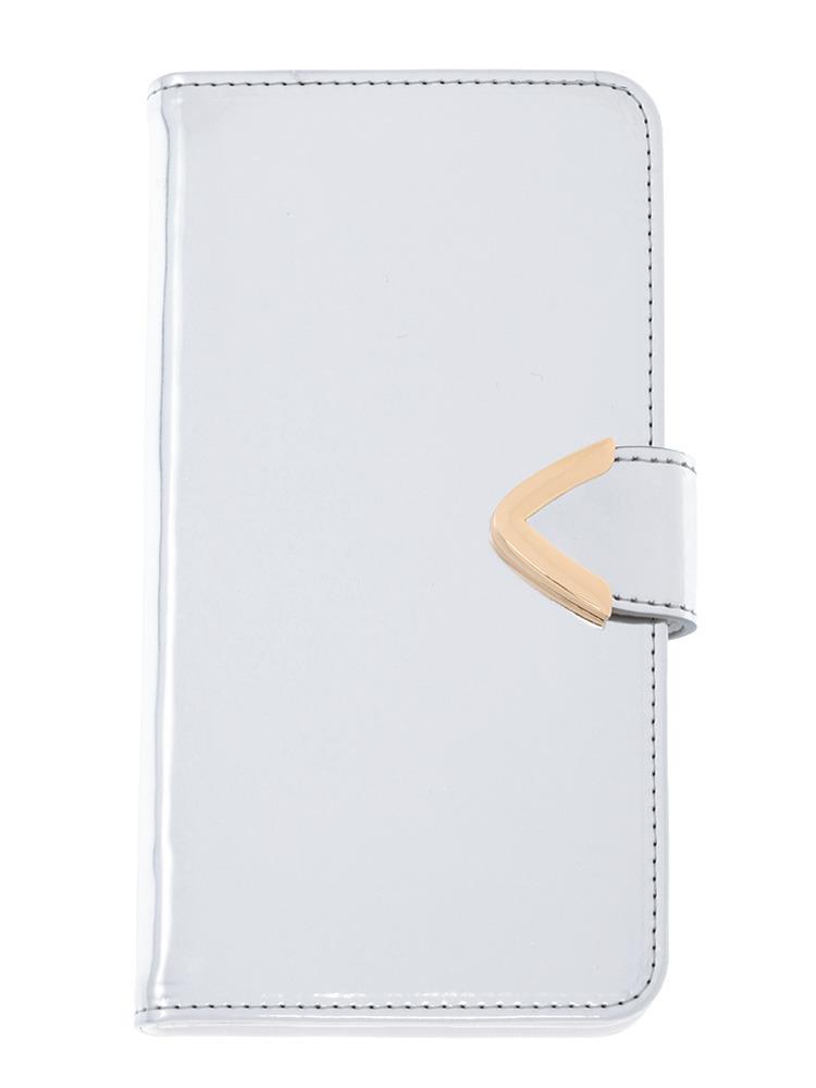 【CASUAL】メタリックカラーiphone6ケースPlus(シルバー-F)
