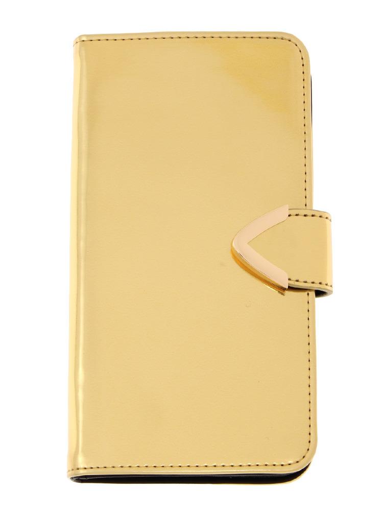 【CASUAL】メタリックカラーiphone6ケースPlus(ゴールド-F)