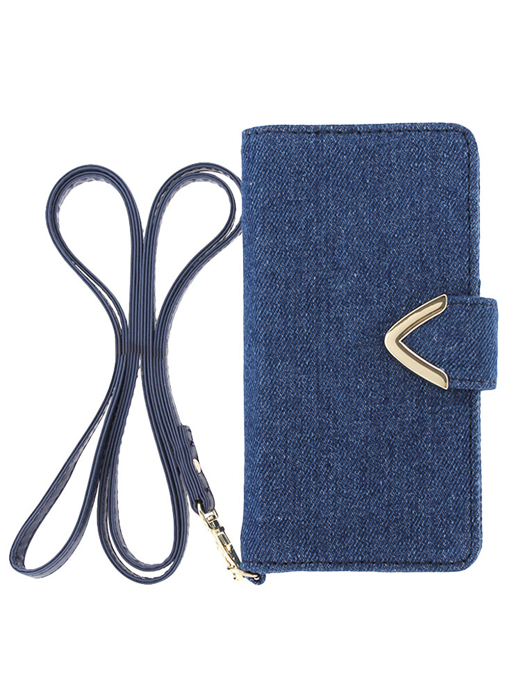 <<6対応>>【CASUAL】DENIM iphone6ケ-ス(ブルー-F)