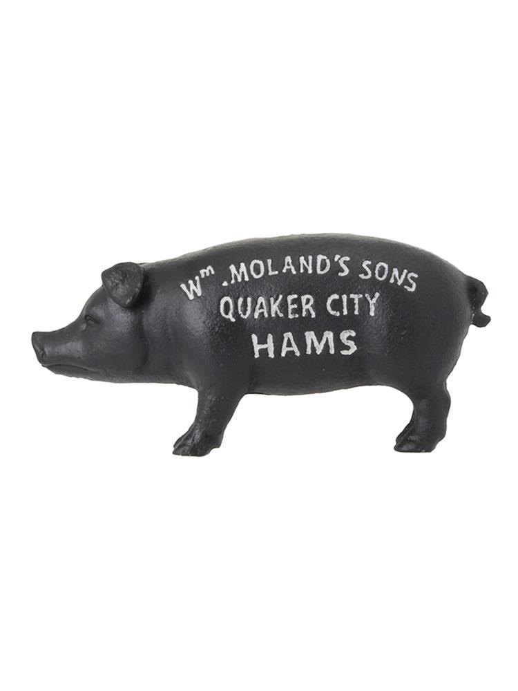 【LIFE】Hams Standing Pig Bank(ブラック-F)