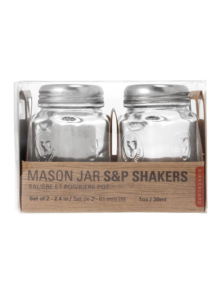 【LIFE】Mason Jar S&P Shakers(クリア-F)