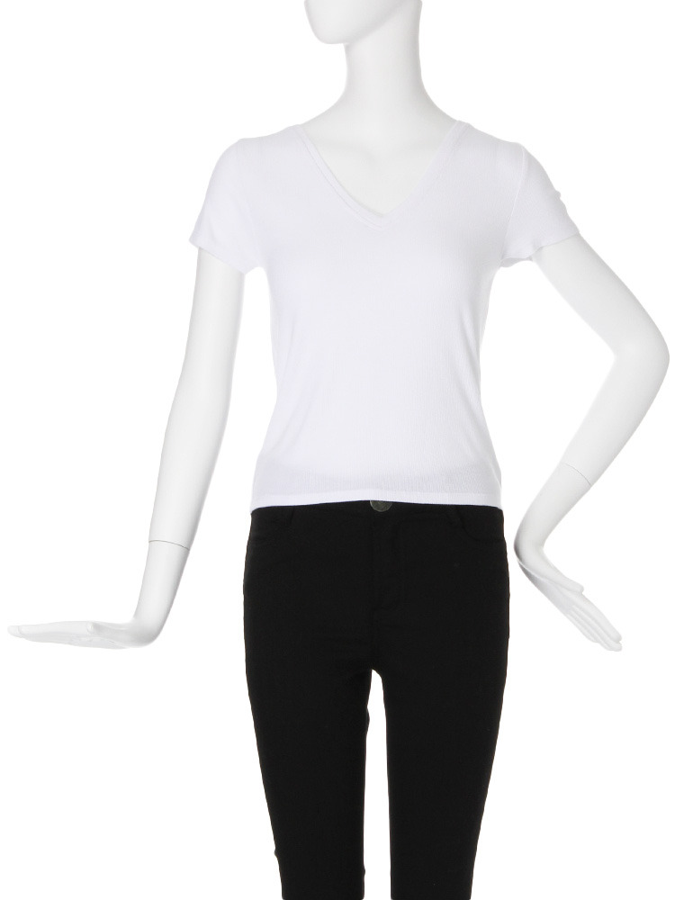 【CASUAL】テレコTシャツ(ホワイト-F)
