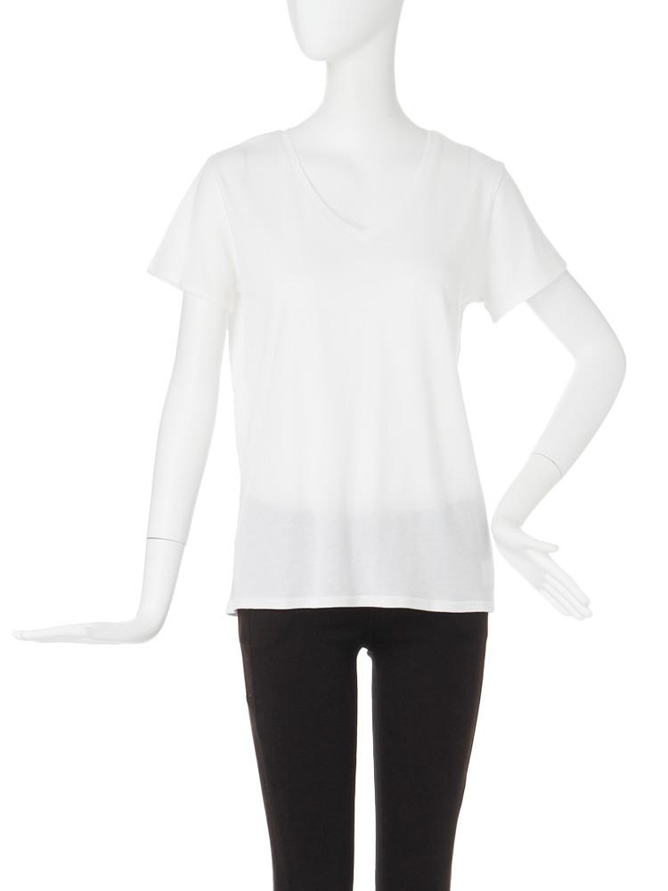 【CASUAL】BASIC VネックTシャツ(ホワイト-F)