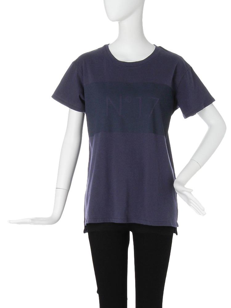 【CASUAL】ラバーロゴオーバーTシャツ(ネイビー-F)