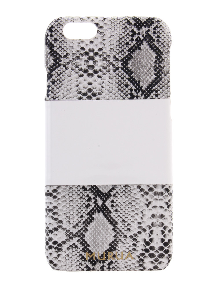≪6対応≫【MODE】カラーブロックパイソンiphone6ケース(ホワイト-F)