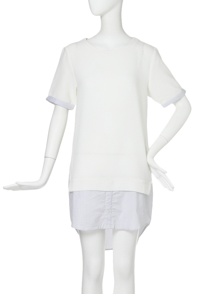 【CASUAL】SHレイヤードワンピース(ホワイト-1)