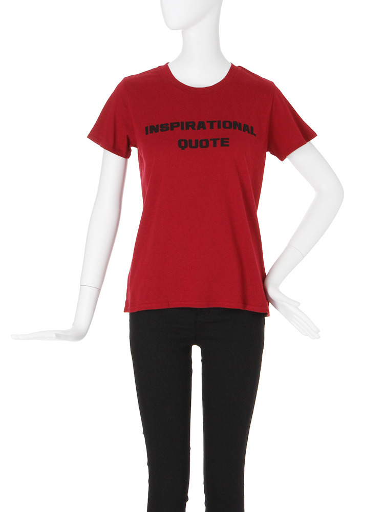 【CASUAL】QUOTE Tシャツ(ボルドー-F)