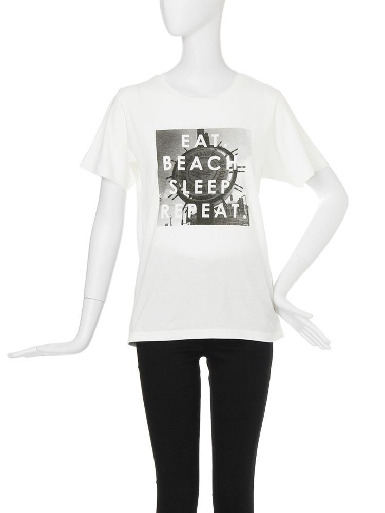 【CASUAL】サマーロゴTシャツ(ホワイト-F)