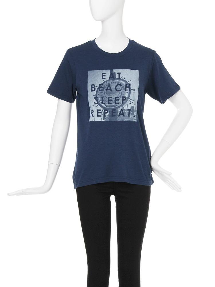 【CASUAL】サマーロゴTシャツ(ネイビー-F)