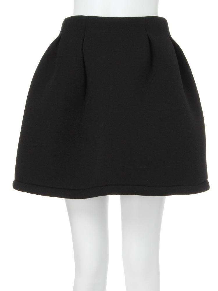 【MODE】ワイドフレアミニスカート(ブラック-1)