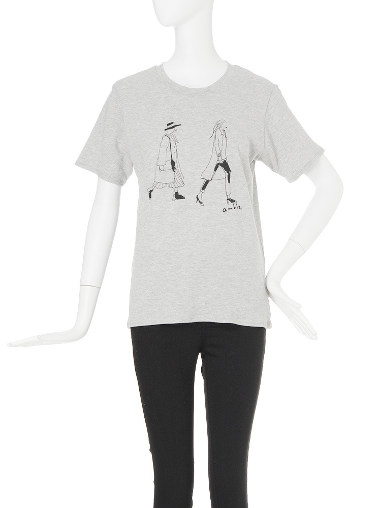 【CASUAL】amble Tシャツ(グレー-F)