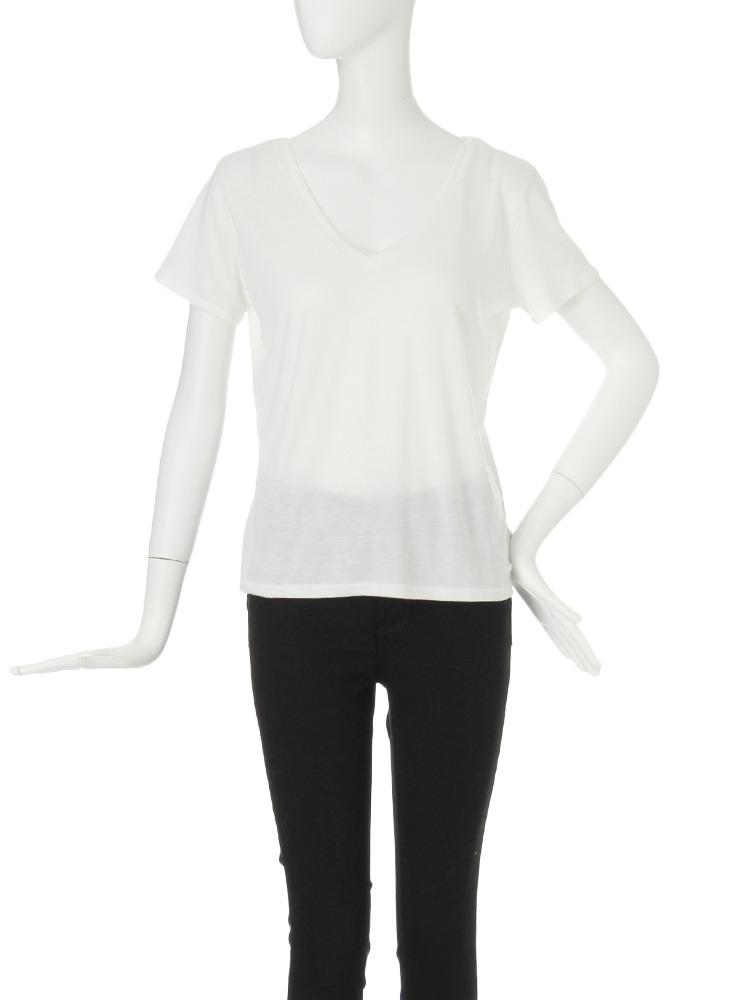 【FEMININE】バッククロスTシャツ(ホワイト-F)