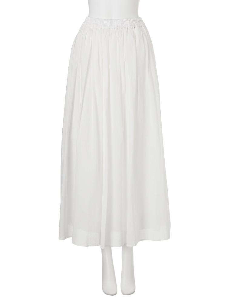 【FEMININE】コットンマキシスカート(ホワイト-F)