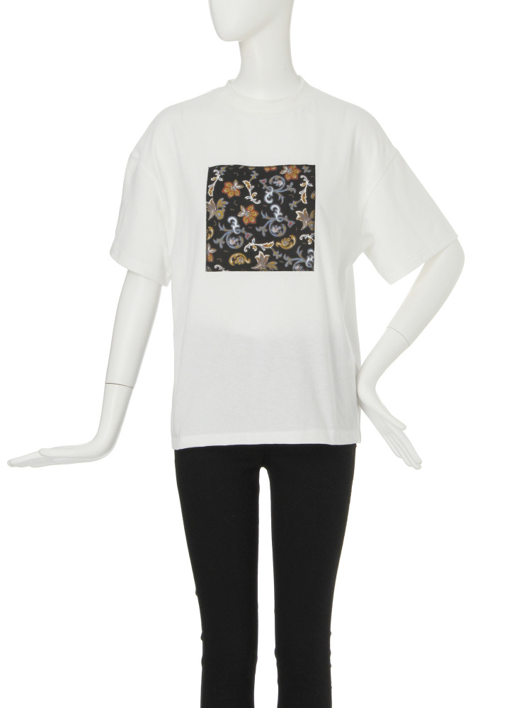 【CASUAL】Attach Tシャツ(ホワイト-F)