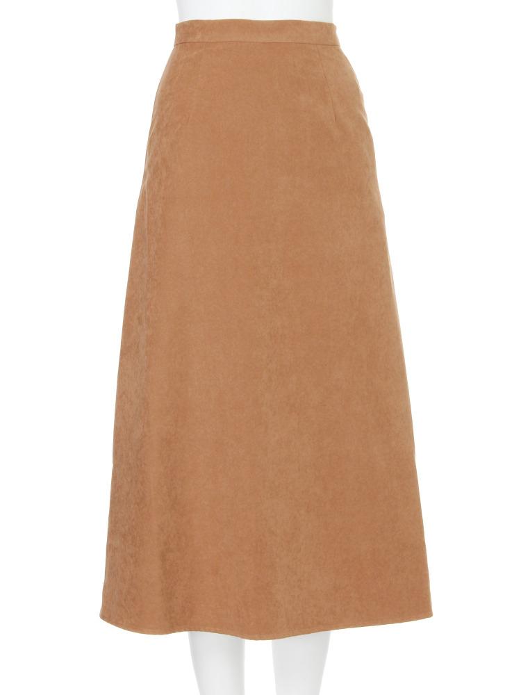 【EDGE】zip longスカート(キャメル-1)