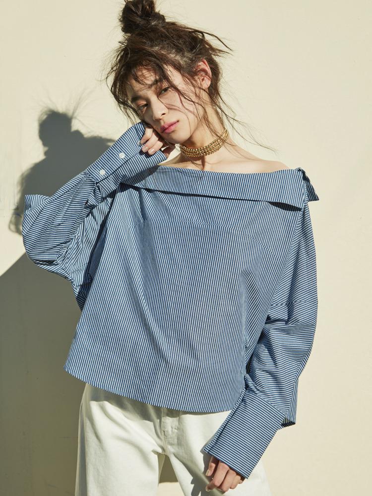 【2017年春新作】ボートカラールーズシャツ