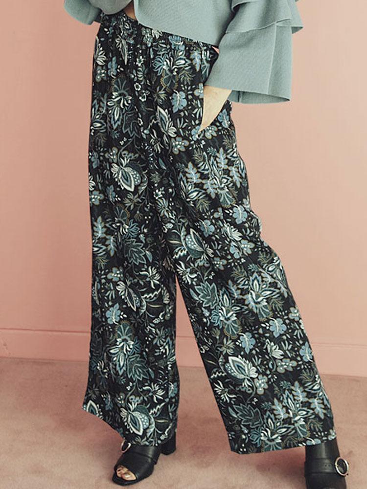 【2017年春新作】エスニックフラワールーズパンツ【MURUA/ムルーア】【ファッション・アパレル レディースパンツ】M0117107005/【PBOK】 RUNWAY channel(ランウェイチャンネル)