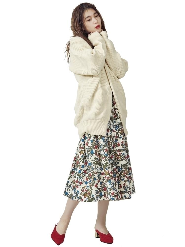 【2017年春新作】retroflowerフレアスカート