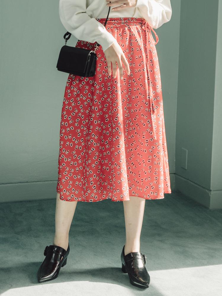 【2017年春新作】littleflowerフレアスカート