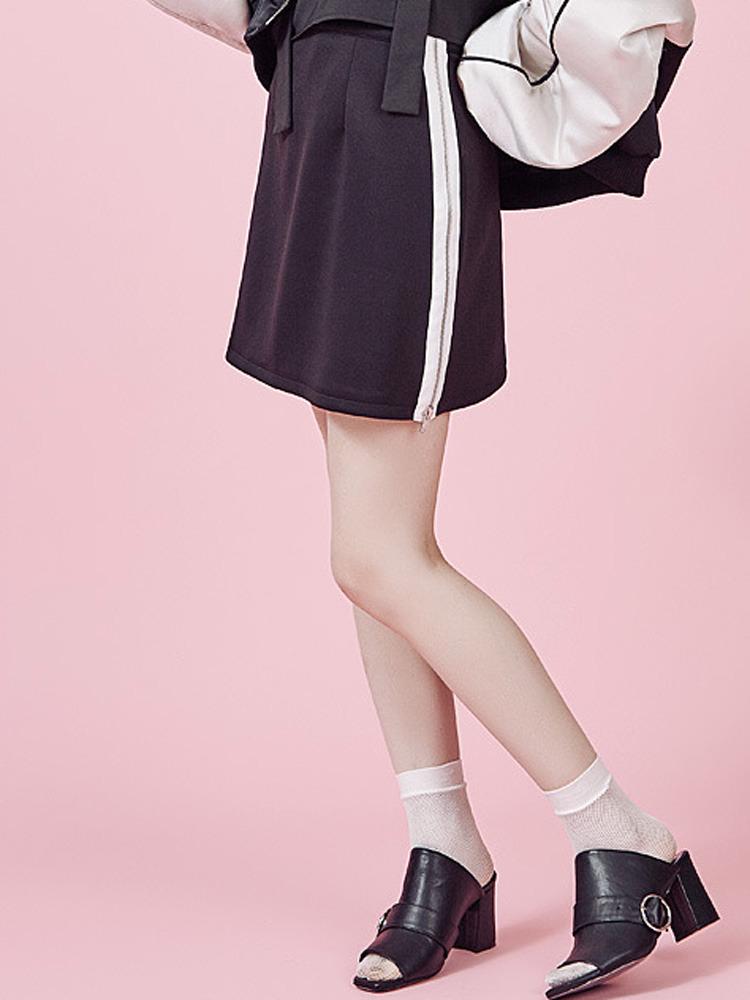 【2017年春新作】サイドZIP台形スカート