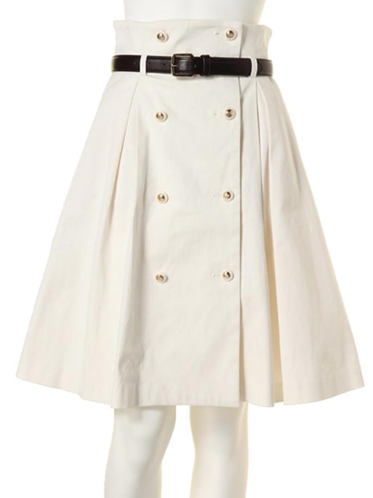 ベルト付きダブルボタンスカート/dazzlin