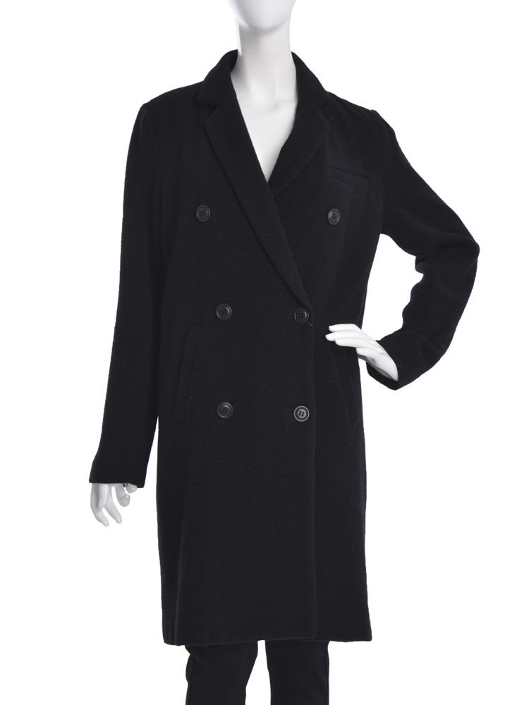 【moi】double chester coat(ブラック-S)