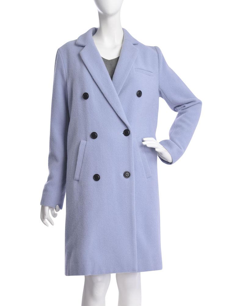 【moi】double chester coat(ブルー-S)