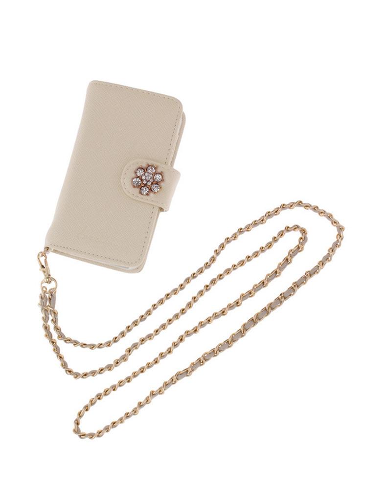 【goods】9th iPhone caseⅡビジュー(オフホワイト-F)