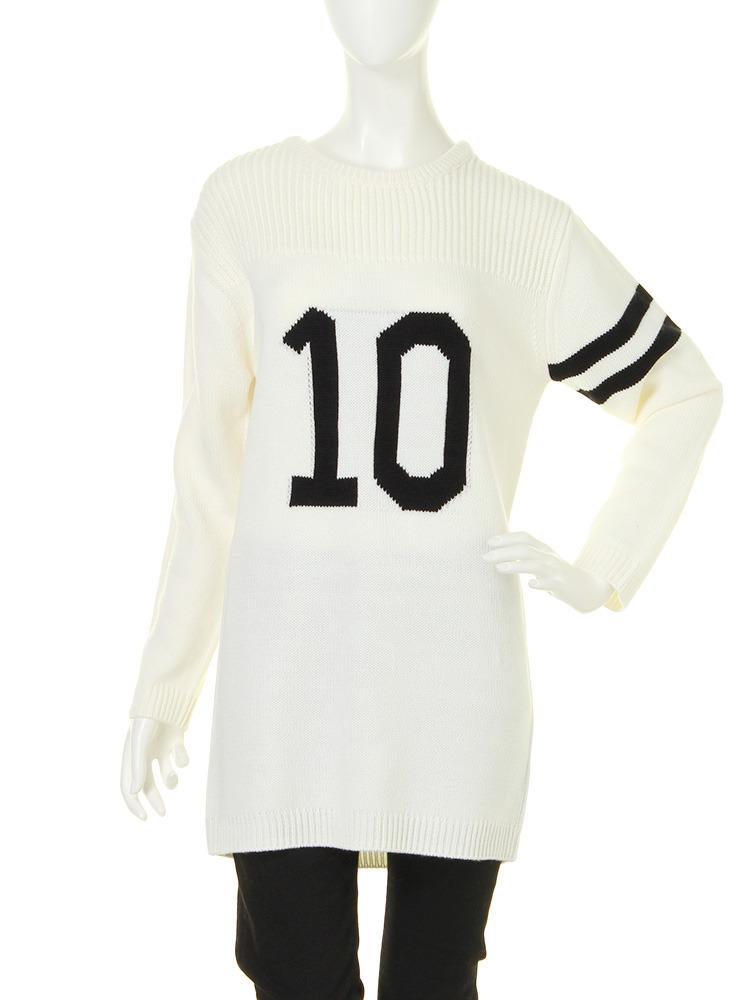 【R】number10ニット(オフホワイト-F)