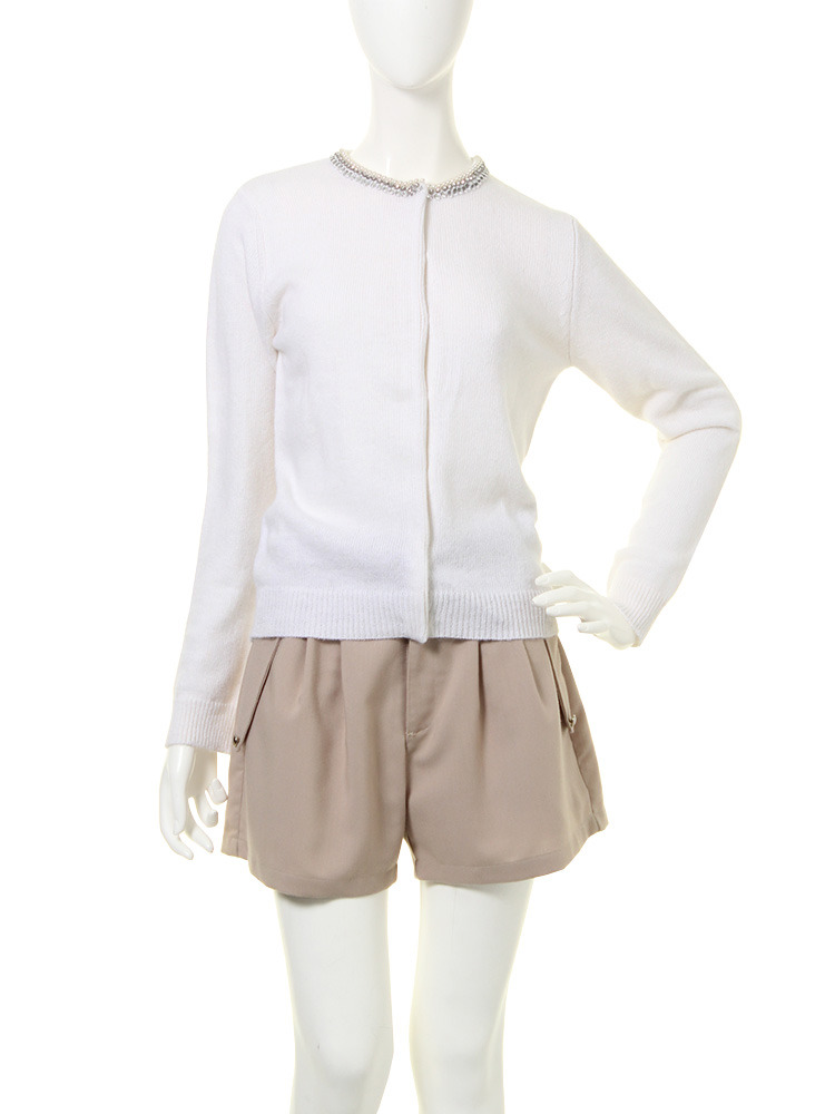 【moi】bijou cardigan(ホワイト-F)