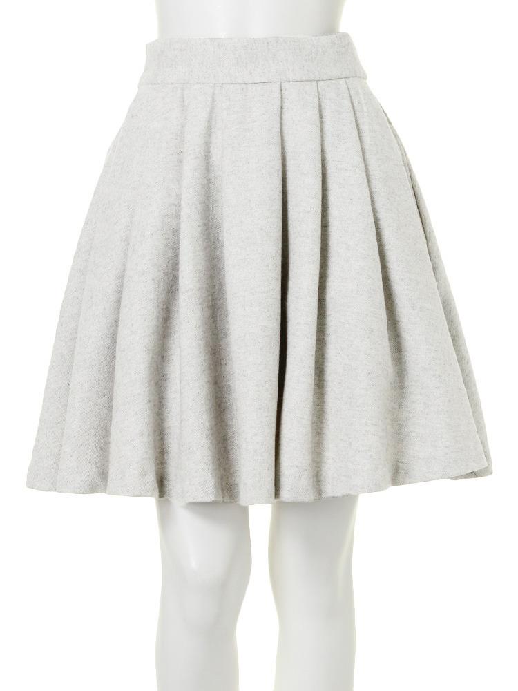 【W】バックリボンメモリースカート(ホワイト-S)