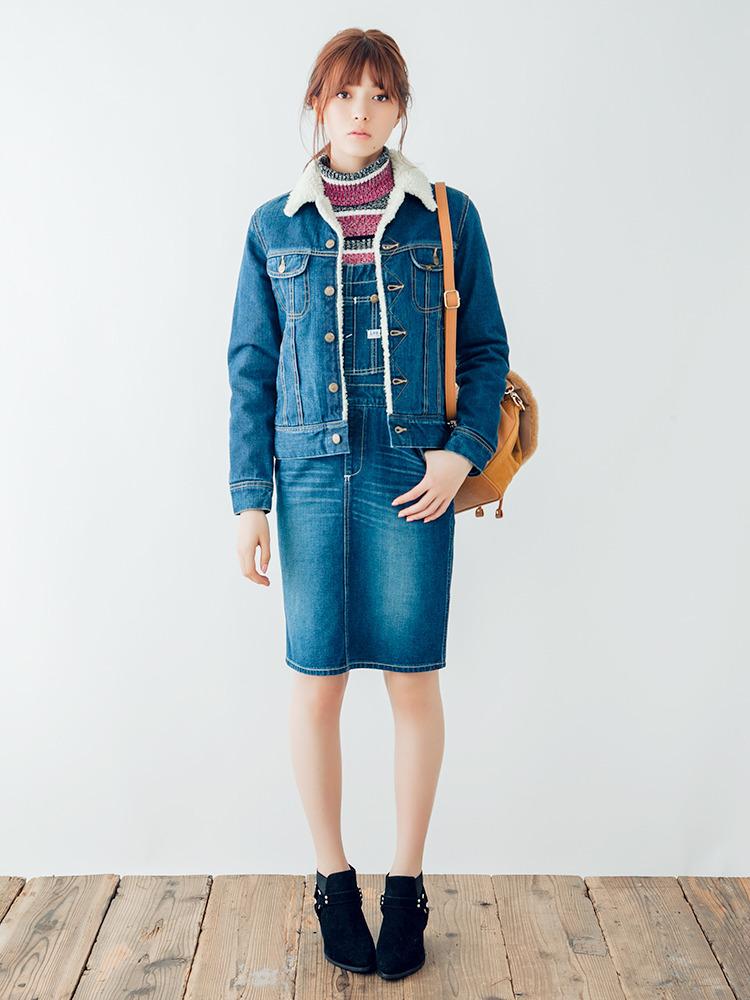 ダズリン|dazzlin公式ファッション通販|ランウェイチャンネル【dazzlin】Lee×dazzlin デニムボアブルゾンの詳細情報