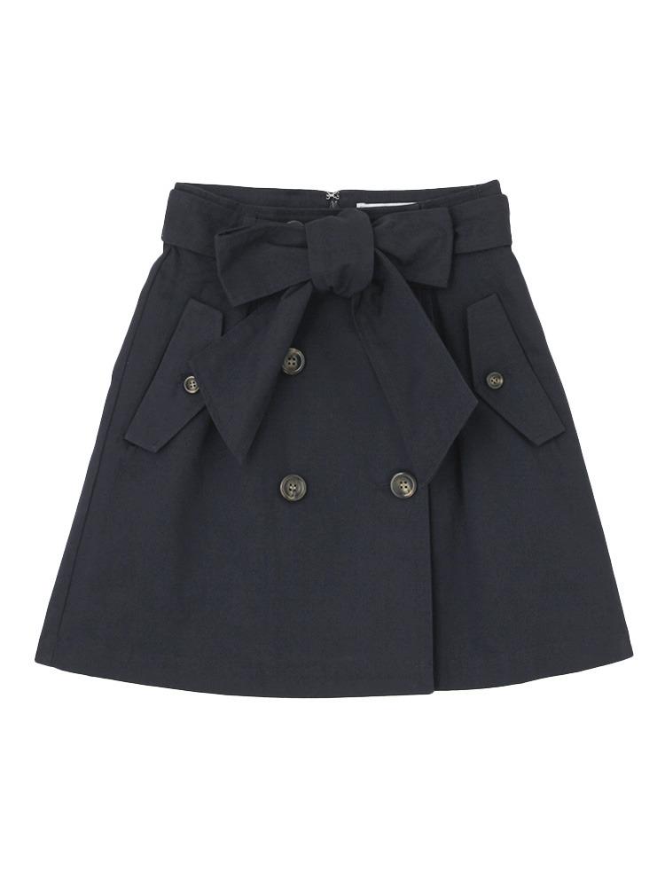【sc】トレンチスカート(ネイビー-S)