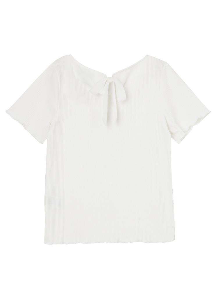 【sw】テレコメローTシャツ(オフホワイト-F)