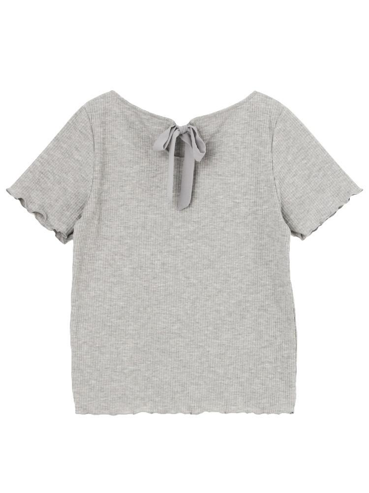 【sw】テレコメローTシャツ(グレー-F)