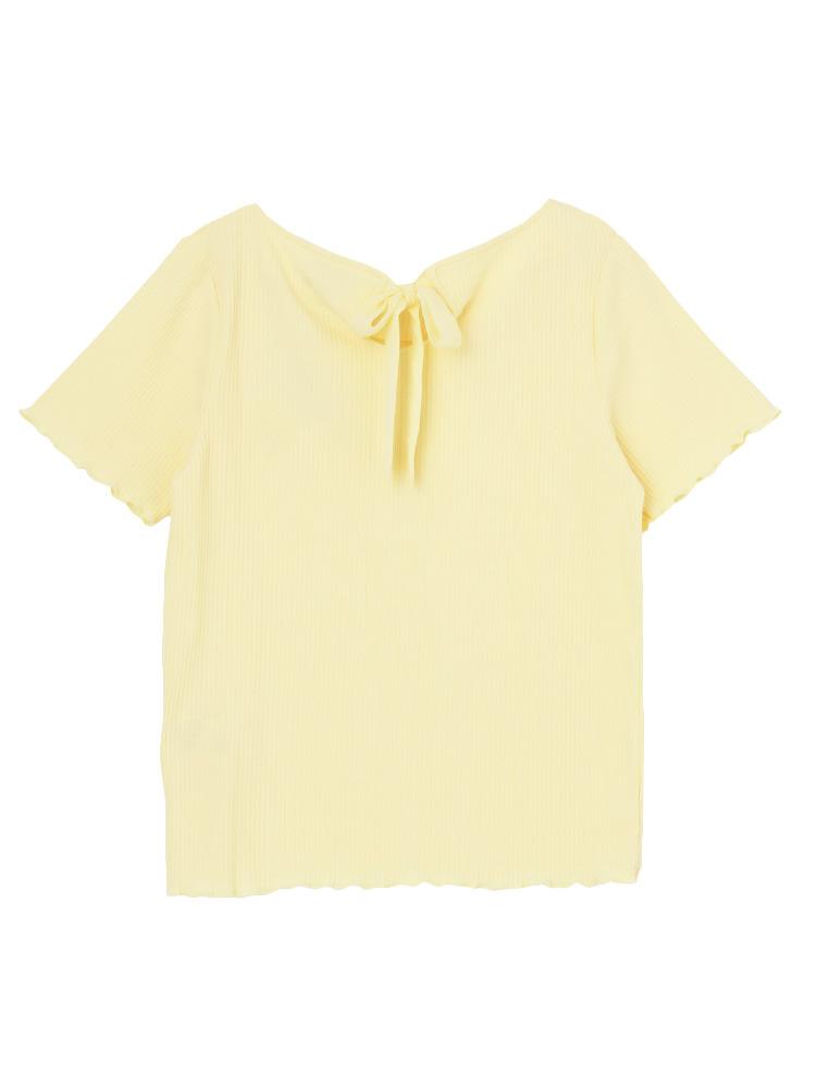 【sw】テレコメローTシャツ(イエロー-F)