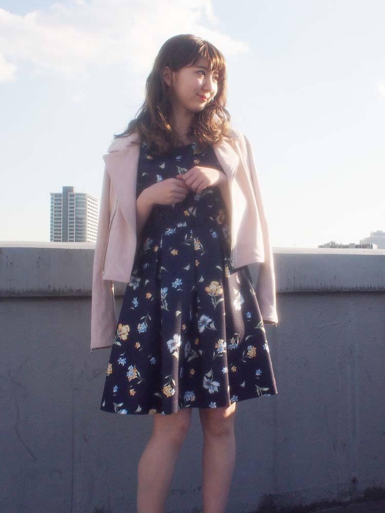 【sw】花柄タンクワンピース