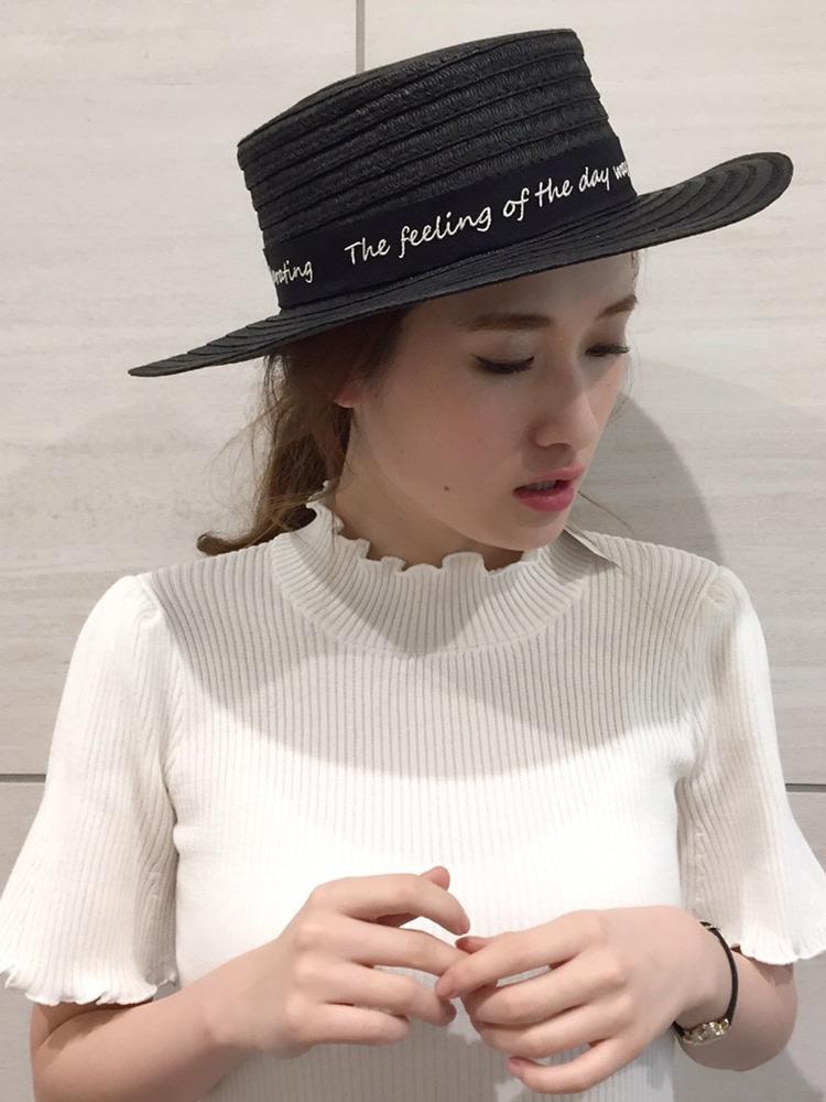 【goods】ロゴリボンカンカン帽