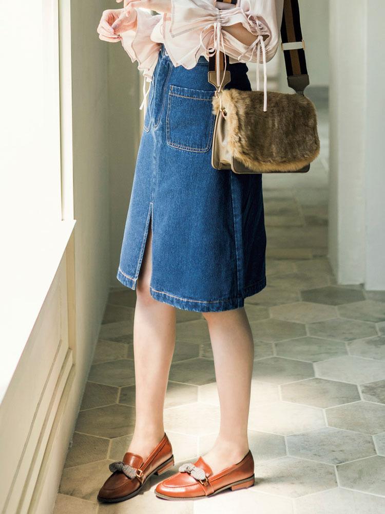 【sw】Aラインデニムスカート【dazzlin/ダズリン】【ファッション・アパレル レディーススカート】M0217425001/【PBOK】 RUNWAY channel(ランウェイチャンネル)